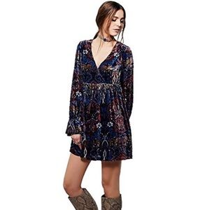 Free People Mystic Charm Burnout Velvet Dress